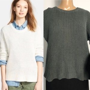 Madewell Linen Shaker chunky pullover sweater XS